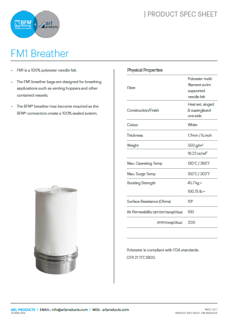 FM1 Breather Spec Sheet