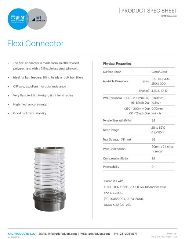 Flexi-Connector Spec Sheet