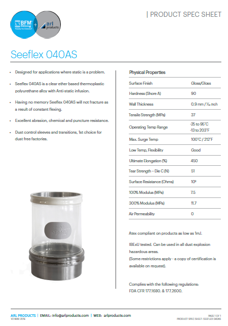 Seeflex 040AS Spec Sheet