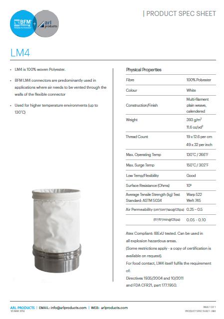 LM4 Spec Sheet